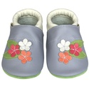 Új!!! Hopphopp puhatalpú cipő - Virágos/levendula, A cipők természetes, puha, minőségi bőrből k...