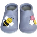 Hopphopp puhatalpú cipő - Méhecskés/levendula , A cipők természetes, puha, minőségi bőrből k...