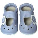 Hopphopp puhatalpú szandál - Virágos/levendula, A cipők természetes, puha, minőségi bőrből k...