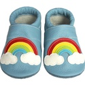 Hopphopp puhatalpú cipő - Szivárványos/világoskék, A cipők természetes, puha, minőségi bőrből k...