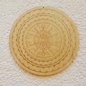 Mandala - itáliai - festhető fa -  előrajzolt mintával, Fess, meditálj, pihenj és dekorálj mandalával!...