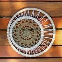 Mandala - horgolt dekoráció , 1 db 21 cm átmérőjű horgolt dísz, amely falra...