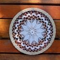 Mandala - horgolt dekoráció , 1 db 17 cm átmérőjű horgolt dísz, amely falra...