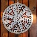 Mandala - horgolt dekoráció , 1 db 26 cm átmérőjű horgolt dísz, amely falra...