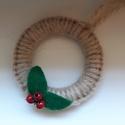 Karácsonyi karika - karácsonyi dekoráció, Karácsonyi dekorációhoz ajánlom vagy ajándék...