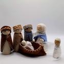 Betlehemben -Mária a kisdeddel - három királyok és angyal , Játék vagy adventi dekoráció? Kettő az egyben...