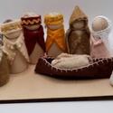 Betlehem - a szent család, három királyok, pásztor és  angyalka  , Játék vagy adventi dekoráció? Kettő az egyben...