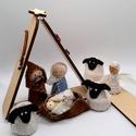 Betlehem - A szent család bárányokkal és angyalkával, Játék vagy adventi dekoráció? Kettő az egyben...