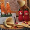 Manócskák- Zöldségmanók - waldorf inspiráció , A négy kis  manócska alapja kis fa figura. Gyapj...