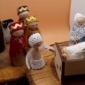 Betlehemi figurák - adventi naptárhoz, Játék vagy adventi dekoráció?  Kettő az egybe...
