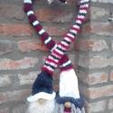 Szeretetben megvénült kötött Karácsonyi Manópár, Dekoráció, Ünnepi dekoráció, Karácsonyi, adventi apróságok, Karácsonyi dekoráció, Ez a szeretetben megvénült karácsonyi manópár kedves dísze lehet a család adventi időszakán..., Meska
