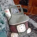 Horgolt patchwork táska , Táska, Ruha, divat, cipő, Szatyor, Horgolás, Ha szereted a vintage stílust az öltözködésben is, Neked készült ez a horgolt pathcwork táska. Krém..., Meska