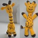 Zsiráf, Játék, Játékfigura, Zsiráf Kétféle zsiráf: négylábú és egy kétlábú  Pamut fonal + PE töltet, Meska