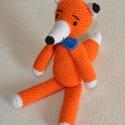 Róka Rudi, Játék, Játékfigura, Róka Rudi állatfigura pamut fonal PE töltet  kb: 20cm, Meska