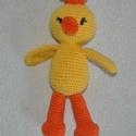 Hápika, Játék, Játékfigura, Hápika a kacsa (kétféle)  pamut fonal + PE töltet  kb. 15-16cm, Meska