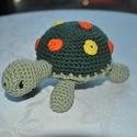 Teknős, Játék, Játékfigura, Teknős kb. 15cm Több színkombinációban! Ezért kérlek jelezd, hogy milyen színt szeretnél!, Meska