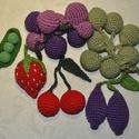 Gyümölcsök, Játék, Játékfigura, Gyümölcsök (horgolt) készlet pamut/PE fonal + PE töltet, Meska