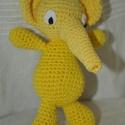 Sárga elefánt, Gyerek & játék, Játék, Játékfigura, Horgolás, Sárga elefánt Választható színekben is Pamut fonal + PE töltet  kb. 20cm, Meska