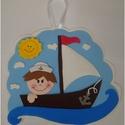 Egyedi kisfiús dekoráció , Baba-mama-gyerek, Otthon, lakberendezés, Dekoráció, Gyerekszoba, Mindenmás, Termékem olyan kisfiúnak készült, aki szereti a hajókat és ő is szeretne tengerész lenni. Falra vag..., Meska