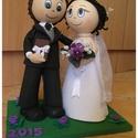Egyedi 3D babapár esküvőre, eljegyzésre, házassági évfordulóra, Dekoráció, Esküvő, Valentin napra, Nászajándék, Baba-és bábkészítés, Ha Te is úgy gondolod szeretnéd egyedi körítéssel átadni a nászajándékra szánt összeget vagy éppen ..., Meska