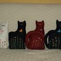 ajtó kitámasztó macska, Dekoráció, Otthon, lakberendezés, Lakástextil, Asztaldísz, Textil anyagból készült,kb 30 cm magasságú tömő-      anyaggal kitömött rizs nehezékkel el..., Meska