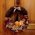 Mi a manó, Dekoráció, Dísz, Mindenmás, 25 cm-es sajátkészítésű vesszőalapra készült ez az ajtódísz. Selyemvirágokkal, száraztermésekkel, i..., Meska
