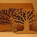 Téli fa, Férfiaknak, Dekoráció, Dísz, Lomfűrészes vágással készített egyedi kézműves termék. Mivel improvizáció, ezért két egyforma nem ké..., Meska