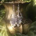 Nautilus ajándéka, lila gyöngyös, spiráldíszes, fülbevaló (hortenziakincsei) - Meska.hu