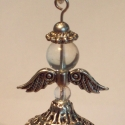 Angyalka medál , Ékszer, Medál,   Szépséges angyalkát készítettem fazettált hegyikristály gyöngyből, tibeti ezüst szárnyacskából. A ..., Meska
