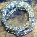 Szaturnusz gyűrűje, Ékszer, Karkötő, Hegyikristály törmelékből készült igéző karkötő, memória drótra fűzve., Meska