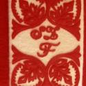 Énekeskönyvre szűrrátétes könyvborító, monogrammal, Képzőművészet, Magyar motívumokkal, Textil, Ez a könyvborító Fruzsi részére készült! Mérete (11x16x2cm) énekeskönyvre való.Más mére..., Meska