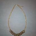 Aranyozott nyaklánc CCB láncszemekkel, Ékszer, óra, Nyaklánc, Ékszerkészítés, A képen látható nyaklánc hossza 46 cm, amely az 5,5 cm-es lánchosszabbítóval meghosszabbítható.  A ..., Meska