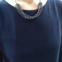 Színkavalkád, Ékszer, óra, Nyaklánc, Ékszerkészítés, Gyöngyfűzés, Színes gyöngyökből és fekete színű láncból készült 50 cm hosszú nyakék, amely az 5,5 cm-es lánchoss..., Meska