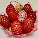 Horgolt húsvéti tojás , Otthon & Lakás, Dekoráció, Dísztárgy, Horgolás, Horgolt húsvéti tojás. A horgolt mintát kifújt tyúktojásra horgoltuk. Méretük :*6-7 cm. Áruk: 500 F..., Meska