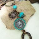 Szerencse-, és napfény-hozó kulcstartó  -  türkiz, Szuper nyári színekben készítettem néhány ku...