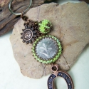 Lefoglalva Wiktus részére ! - Szerencse-, és napfény-hozó kulcstartó  -  zöld, Szuper nyári színekben készítettem néhány ku...