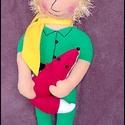 Kisherceg rókával, Gyerek & játék, Játék, Plüssállat, rongyjáték, Köszönöm szépen,hogy megtiszteltél a rendeléseddel:) kb 35 cm magas,egyedi ,kézzel készült mesehős,v..., Meska