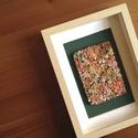 Pasztell virágtenger - 3D kép süthető gyurmából (M), Otthon & Lakás, Dekoráció, Kép & Falikép, Gyurma, Festett tárgyak, A kép süthető gyurmából készült, világos képkeretbe került.  A keret 15x20 cm, elrendezése variálha..., Meska