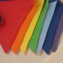 Szivárvány zászlófüzér, bunting, dekoráció, Dekoráció, Baba-mama-gyerek, Gyerekszoba, Varrás, Gyerekszobába, oviba, suliba, partira, szülinapra használható szivárvány színeiben készült zászlófü..., Meska