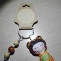 Gésa kulcstartó gyöngyökkel díszítve (narancs), Dekoráció, Mindenmás, Kulcstartó, Dísz, Ezt a kedves kulcstartót filcanyagból készítettem. Színében illő fonallal öltöttem össze, ..., Meska