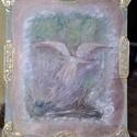 Őrangyalod földre száll, Képzőművészet, Festmény, Festészet, A kép transzban készül, és a megrendelőre borítja védelmező szárnyait. 60x50 cm, vagy 70x50 cm-es k..., Meska