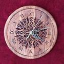 Mandala Falióra, Dekoráció, Képzőművészet, 24x24 cm. Ék faragási technikával készült. Alapanyaga: bükkfa, felületkezelése vizes pác , majd leno..., Meska