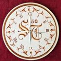 Monogramos - Faragott - Falióra, Dekoráció, Képzőművészet, Saját névre szabott monogramos óra születésnapra.  Rendelés esetén egyeztetés a név kezdő ..., Meska