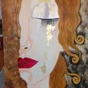 Könnyek, Képzőművészet, Festmény, Akril, Reprodukció a saját ízlésem alapján. 50*40 cm-es farostra készült akril festékkel vegyes tec..., Meska