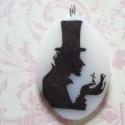 Andersen árnymedál, méret:4x2,5cm-es opál szinű zsugorka medál, b...