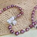 """Hercegnők éke - Édesvizi tenyésztett gyöngy nyaklánc , Ékszer, Mindenmás, Nyaklánc, """" A gyöngy  -  Istenek ajándéka, emberek tudománya""""                          Selymes fényű, sz..., Meska"""