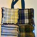 Rojtos bevásárló táska, Táska, Válltáska, oldaltáska, Rojtos technikával 3 rétegből készült,bevásárlótáska. Hosszú füllel,vállon hordható vá..., Meska