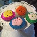 Cukormázas kekszek, Baba-mama-gyerek, Játék, Baba játék, Babakonyhába,kis cukrászdába ajánlom ezeket a varrott süteményeket., Meska