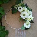 könnyű karika , Esküvő, Esküvői dekoráció, Elsősorban esküvőre ajánlom, de ajtódísznek sem utolsó :), Meska