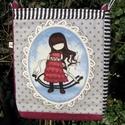 Gorjuss-lányos táska, Táska, Válltáska, oldaltáska,  Pamutvászonból készült ez a Gorjuss-lányos táska. Méreténél figyelembe vettem, hogy A4-es ..., Meska